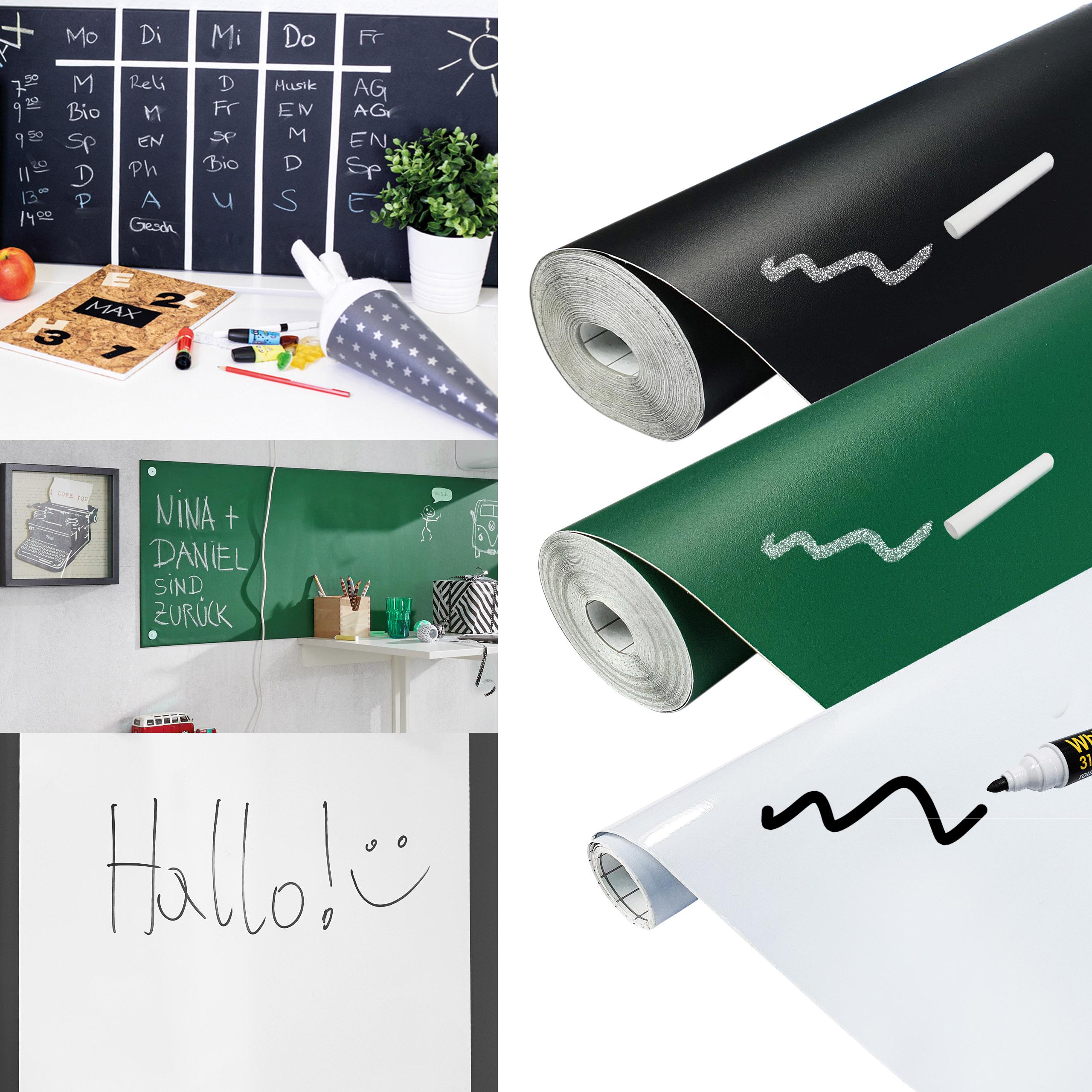 Abnehmbare Whiteboardfolie Selbstklebende Tafelfolie Wand Sticker 45//60cm