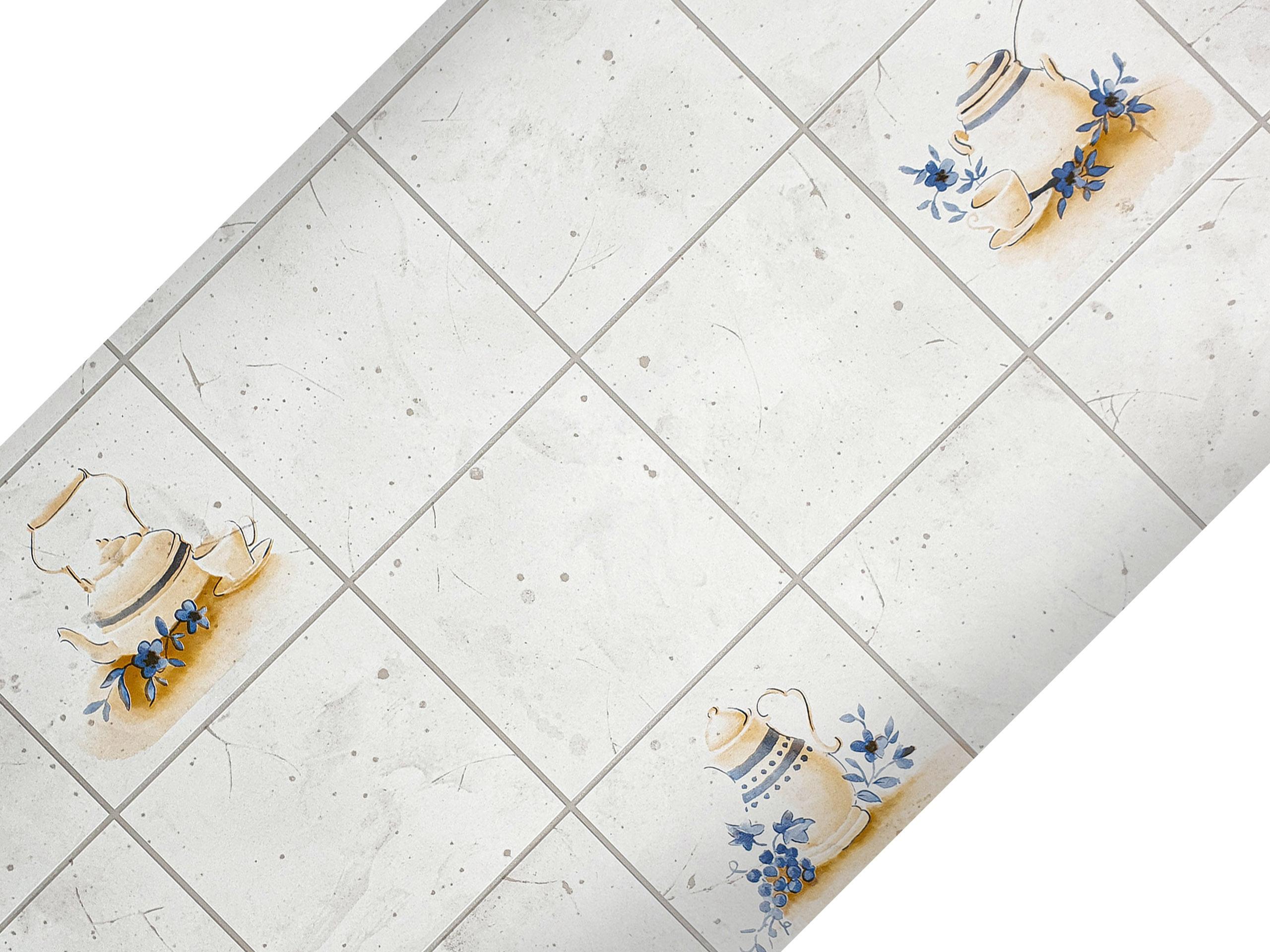 Selbstklebende Möbelfolie Küche Pot Beige dcfix Kachel Fliesenoptik Tapete Küche